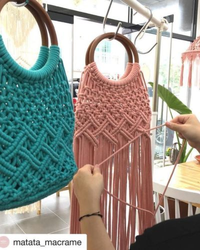 Photo of Good Sunday to everyone with this beautiful inspiration! Wonderful bag in macram…, # Check …