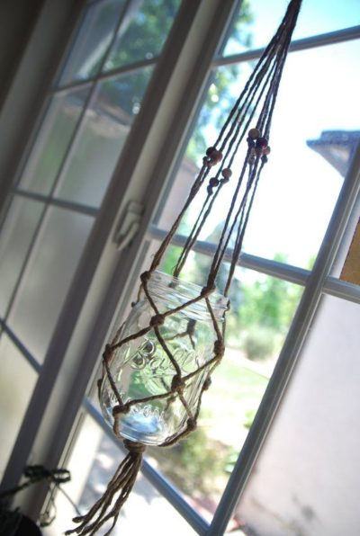 Photo of 20% OFF– Hand Made Natural Wire macrame Mason Glass Jar Hanger Planter / Candle holder