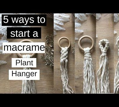 Photo of ✂️ 5 Ways To Start A Macrame Plant Hanger (Beginner's Guide)