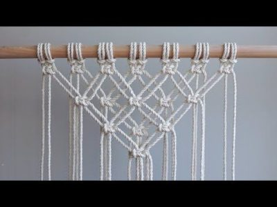 Photo of DIY Macrame Tutorial – Starting Your Work! Overlapping Square Knot Pattern