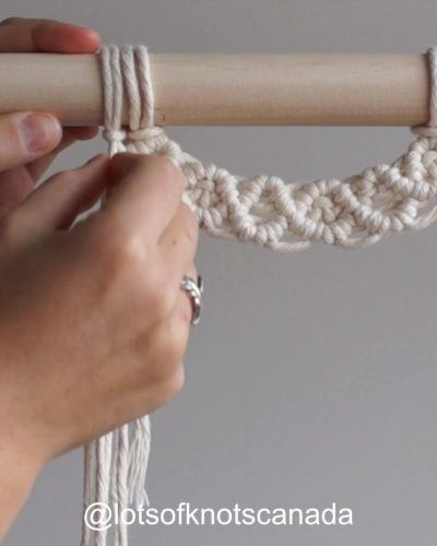 Photo of DIY Macrame Wall Hanging – Layering Your Work (Semi-Circle Pattern Attached to Dowel) – YouTube