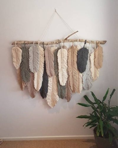 Photo of #Feather #Hanging #Macrame #Wall This gorgeous feather wall hanging is definitel…