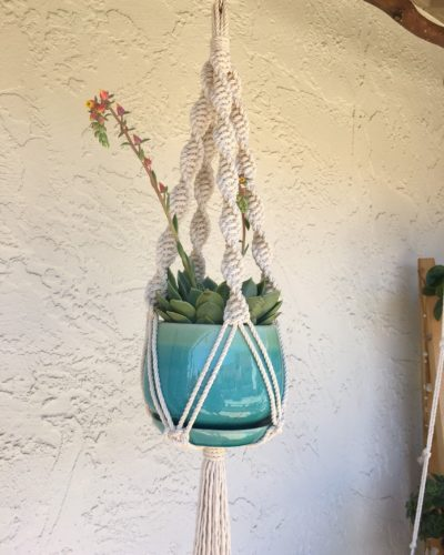 Photo of Gift for Her, hanging planter, Indoor Outdoor Macrame Plant Hanger for Potted Plants and Flowerpots, Gifts under 30, ready to ship