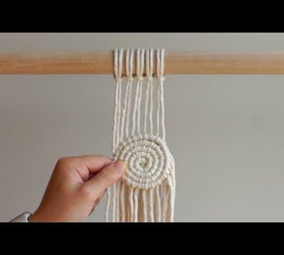 Photo of MACRAME SHAPES SERIES – Adding a Macrame Spiral to Your Wall Hanging!