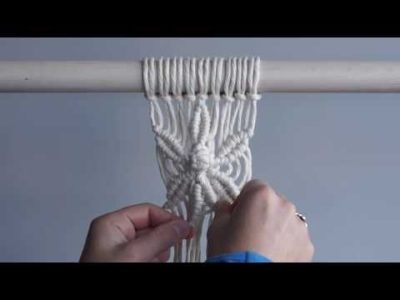Photo of Macrame For Beginners 28 Days of Knots! Day 20: Six Petal Flower Pattern