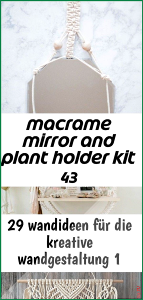 Photo of Macrame mirror and plant holder kit 43 Macrame mirror and plant holder kit 43 Ro…