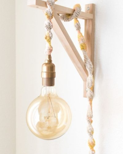 Photo of Make a Macrame Wrapped Wall Light in Less than an Hour