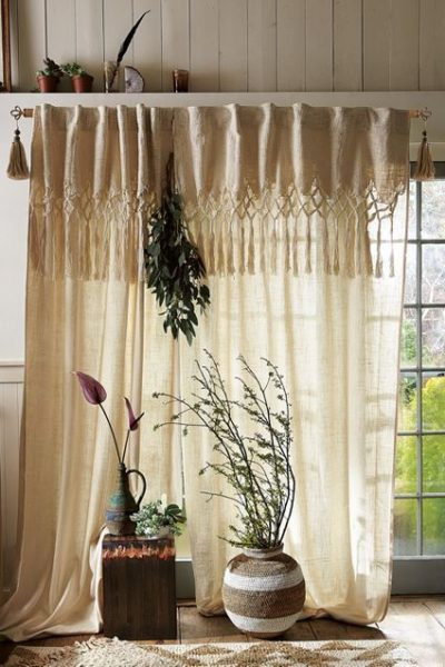 Photo of Most recent Photo Macrame Curtain knots Thoughts Knotted Macrame Curtain #Vorha…