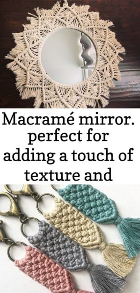Photo of Macramé mirror. perfect for adding a touch of texture and bohemian style to a l… #adding #bohemian