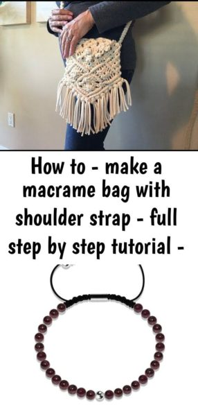 Photo of How to – make a macrame bag with shoulder strap – full step by step tutorial – youtube 6