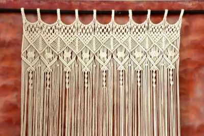 Photo of Boho Handwoven Macrame Curtain Room divider Retro Wall Décor Wall Hanging Party Backdrop W 44″ x L 76″ Buy One or two Panels