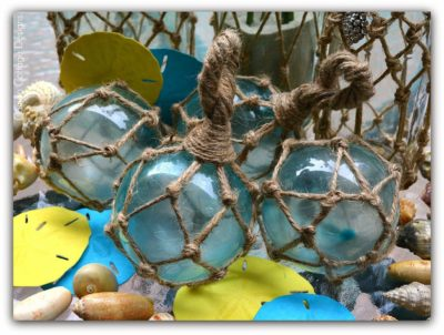 Photo of Cameo Cottage Designs: Glass Fishing Ball Floats With Netting Knockoffs