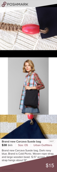 Photo of Cold Picnic Urban Outfitters Suede Carcava Bag Cold Picnic Brand by Urban Outfit…