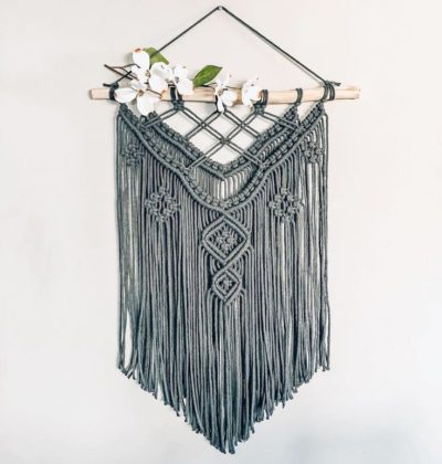 """Photo of Crafteza Macrame Cords on Instagram: """"Beautiful Macrame Wall Hanging created by @coastalknotstudio from @crafteza_macrame_cords (link in Bio👉👉👉Various sizes and colors…"""""""