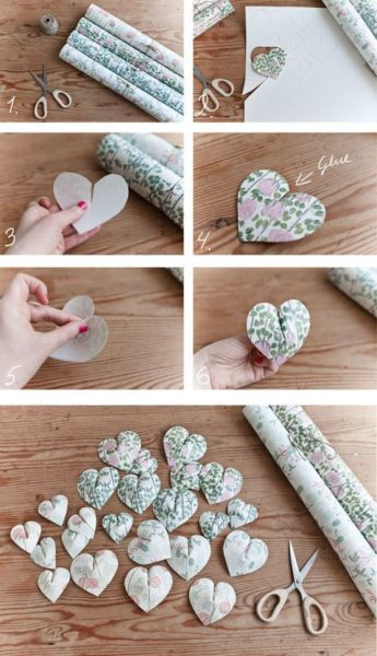 Photo of Create this pretty paper heart wall hanging in 6 easy steps