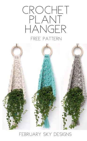 Photo of Crochet Plant Hanger Free Pattern by February Sky Designs – Hastag Stalk