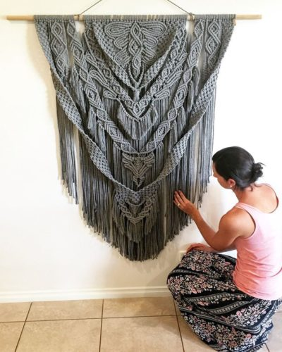 Photo of This stunning Macrame Wall Hanging is handmade locally in Broome, Western Austra…