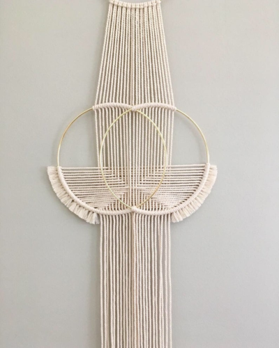 Photo of Double Ring Macrame Wall Hanging