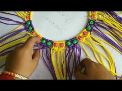 Photo of How to make macrame mirror with flower wall hanging .