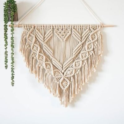 Photo of Macrame Wall Hanging, Woven Tapestry Boho Home Decor, Macrame wall decor for the Living Room…