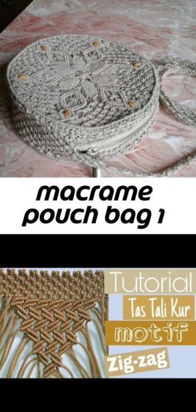 Photo of Macrame pouch bag 1
