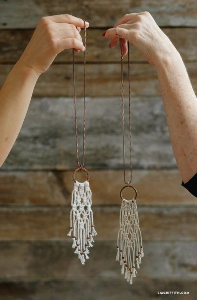 Photo of Simple DIY Macrame Necklace – Lia Griffith
