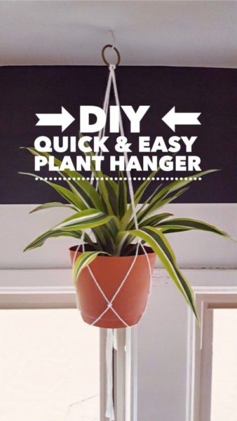 Photo of The Easiest Macrame Plant Hanger
