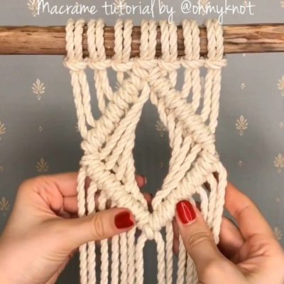 """Photo of АВТОРСКАЯ СТУДИЯ МАКРАМЕ on Instagram: """"💠Hey, would you like to see new macrame diamond pattern? Glad to show you this. Slow version watch on YouTube (link in bio). . Всем…"""""""