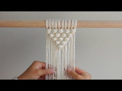 """Photo of DIY Macrame Tutorial How To Start Your Work – """"V"""" Pattern Using Berry Knots!"""