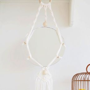 Photo of DIY mirror hanging macramé and trendy wooden beads
