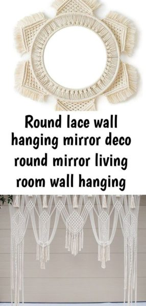 Photo of Good Pictures Macrame Wall Hanging mirror Thoughts Macrame is back however you l…