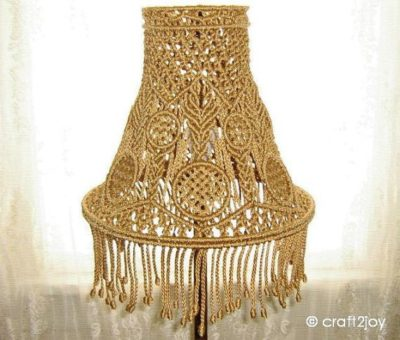 Photo of Items similar to Macrame Lamp Shade for table or floor lamp on Etsy