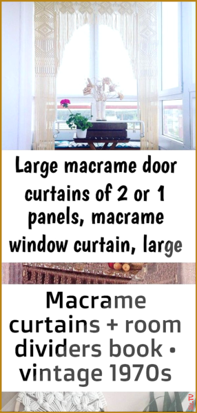 Photo of Large macrame door curtains of 2 or 1 panels macrame window curtain large macram…