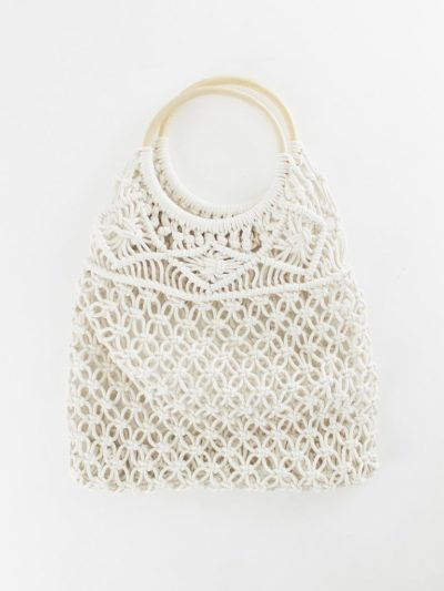Photo of Macrame Bag With Wooden Handle