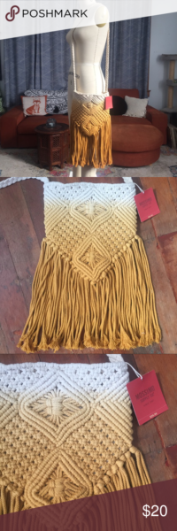 Photo of Mossimo Macrame Purse New with tags! Stunning macrame purse with cream or mustar…