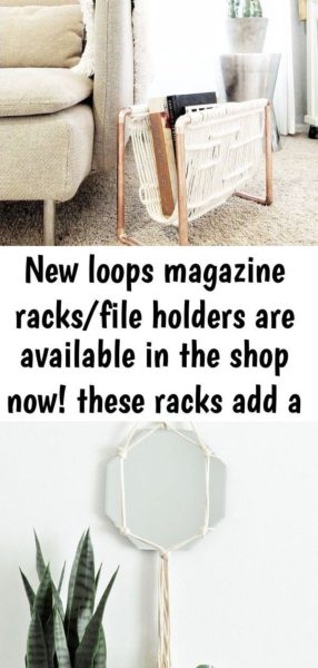 Photo of New loops magazine racks/file holders are available in the shop now! these racks add a pop of…