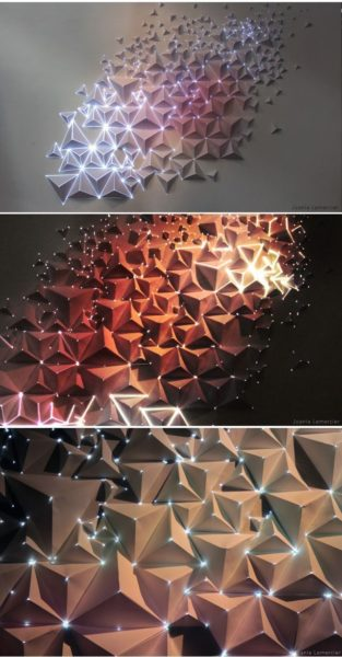 Photo of Origami Meets Projection Mapping Origami trifft auf Projektionskartierung…