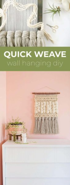 Photo of Quick Weave Wall Hanging DIY – A Beautiful Mess