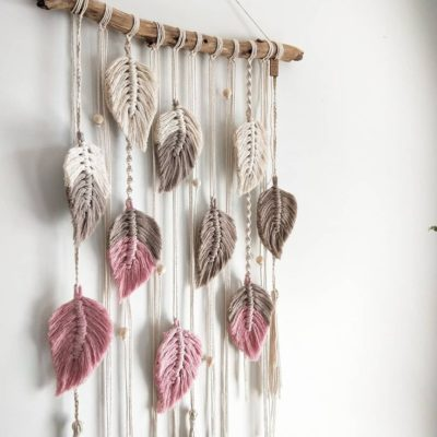 """Photo of T H E ♥ K N O T & T I L E on Instagram: """"""""Falling Leaves"""" with a touch of pink! Pretty little bedroom or nursery would be the ideal home for this babe x . . . . . . . . #macrame…"""""""