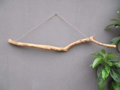 Photo of Wall hanging Olive wood Driftwood Branch for Picture Display, Wooden Dowel for Macrame, Wood Branches Supplies, Curtain Rod, Clothing Rack