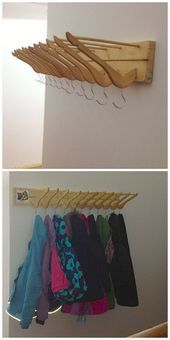 Photo of Clothes rack made of recycled material – UPCYCLING IDEAS