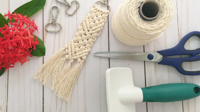 Photo of DIY Macrame Keychain Tutorial – Crafting on the Fly