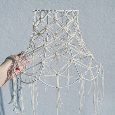 """Photo of Elin Norén on Instagram: """"I made a macrame lamp 😊 #macrame#lamp#macramelamp#diy#craft#makrame#lampa#lampskärm"""""""