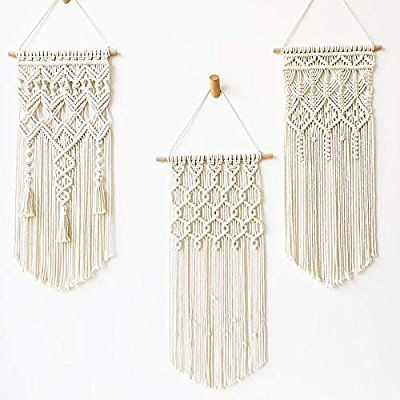 Photo of Fashionstorm 3 Pack Macrame Wall Hanging Tapestry Boho Macrame Tapestry Woven Home Decor Wall Pediment