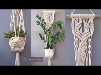 Photo of How to make Macrame plant hanger. Beautiful Macrame wall hanging tutorial. DIY gift for Mother's day