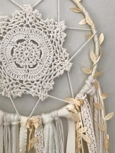 Photo of Ivory Dream Catcher Wall Hanging #dreamcatchers This boho-inspired dream catcher…