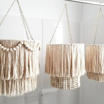 Photo of MOBILE, Fringe and Wood Bead, 7 styles, 4 sizes and 54 color options