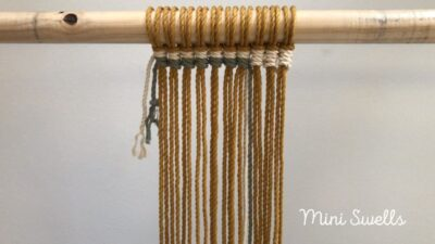Photo of Macramé tutorial – How to add color cords with vertical half hitch knots