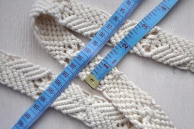 Photo of Macrame off white strap Woven natural cotton bag strap Phone case neck strap Cell phone lanyard
