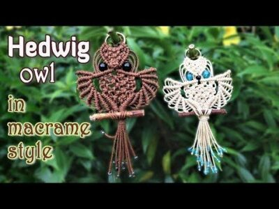 Photo of Macrame owl tutorial – The beautiful Hedwig of Harry Potter – Step by step giude